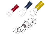 [Hp-260258] Кабельный наконечник с кольцом, изолированный, 0,25-1,5 M5*